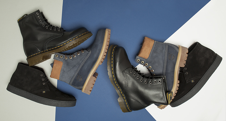 A collection of mens aw 15 boots