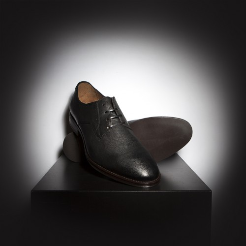 Red or Dead Mr Mitty Black Leather shoes with rubber sole