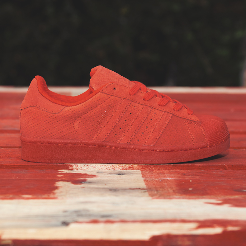 adidas superstar rt mono suede trainers in red for women and men