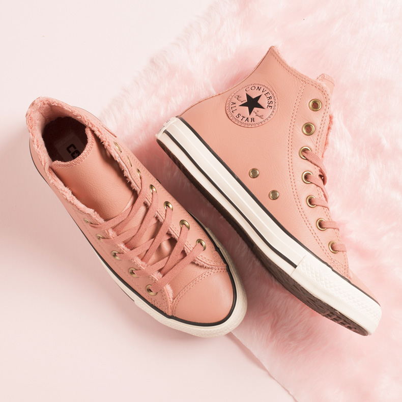 converse pink winter trainers