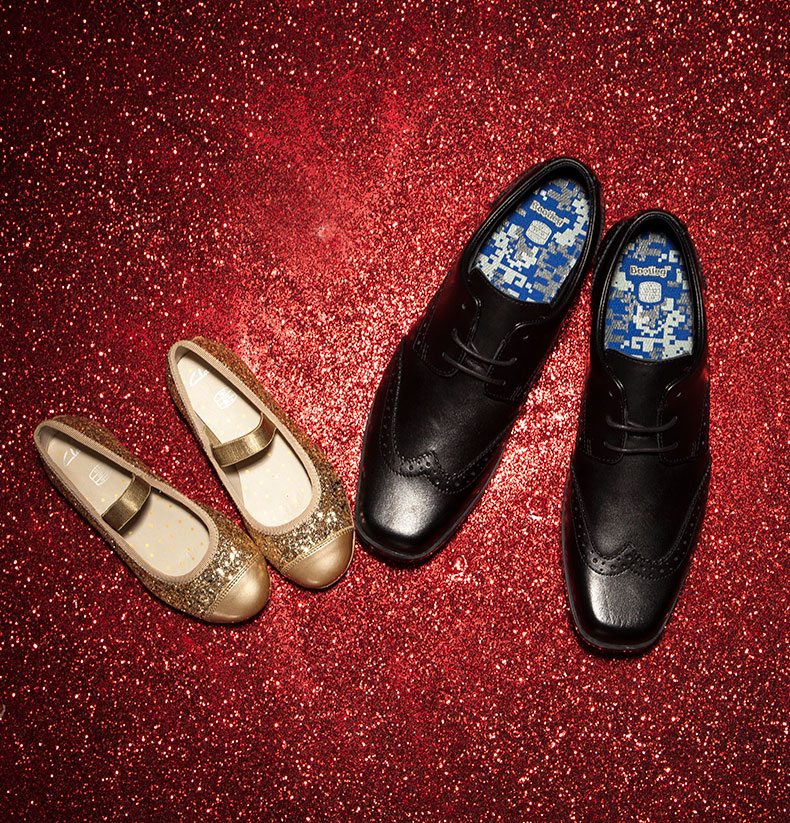 clarks gold dance idol girls shoes and  clarks hoxton walk black shoes for boys