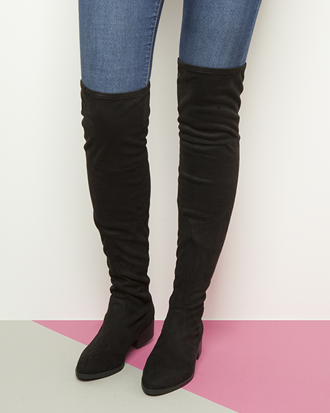 over-the-knee-black-flat-suede-boots