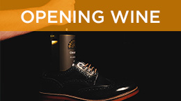 Shoe hacks - opening wine with shoes