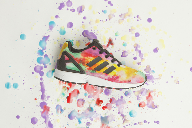 kids adidas zx flux trainers colourful trainers