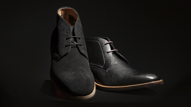 mens black h by hudson hallam chukka 3 and ted baker torsdi boots