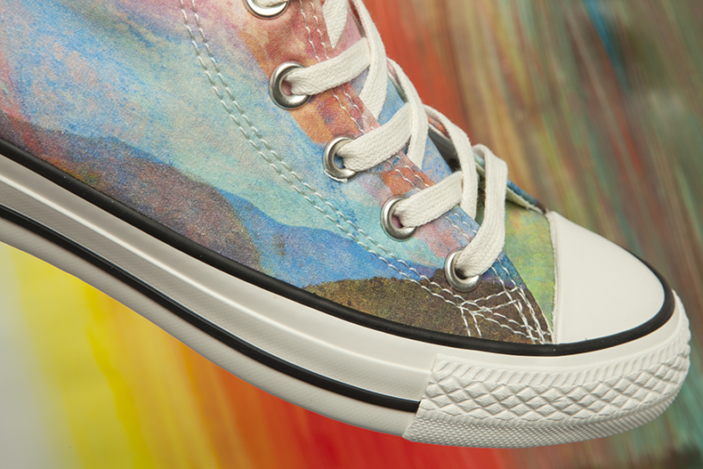 womens converse photo real sunset 2 colourful trainers