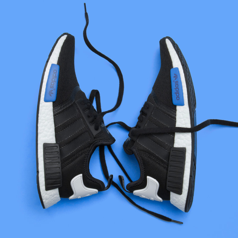 adidas NMD trainer black and blue