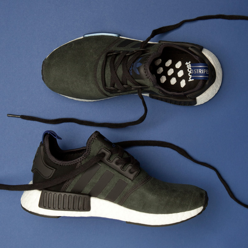 adidas NMD trainers black and blue