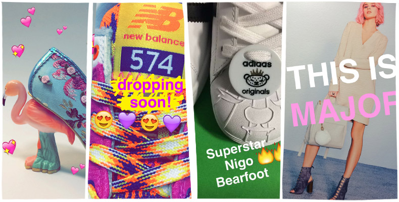 product sneak peeks and exclusive launches on schuh snapchat