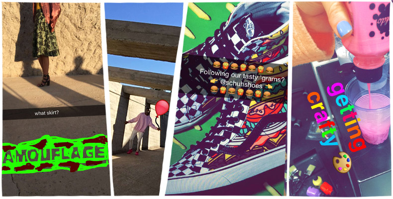 behind the scenes schuh on snapchat