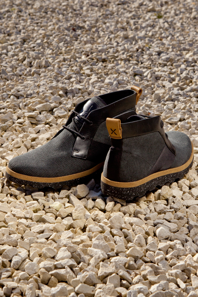 clarks originals x christopher raeburn mens black fabric bandar lo boots
