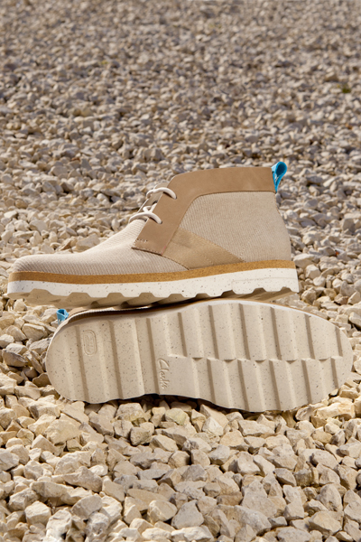clarks originals x christopher raeburn mens stone fabric bandar lo boots