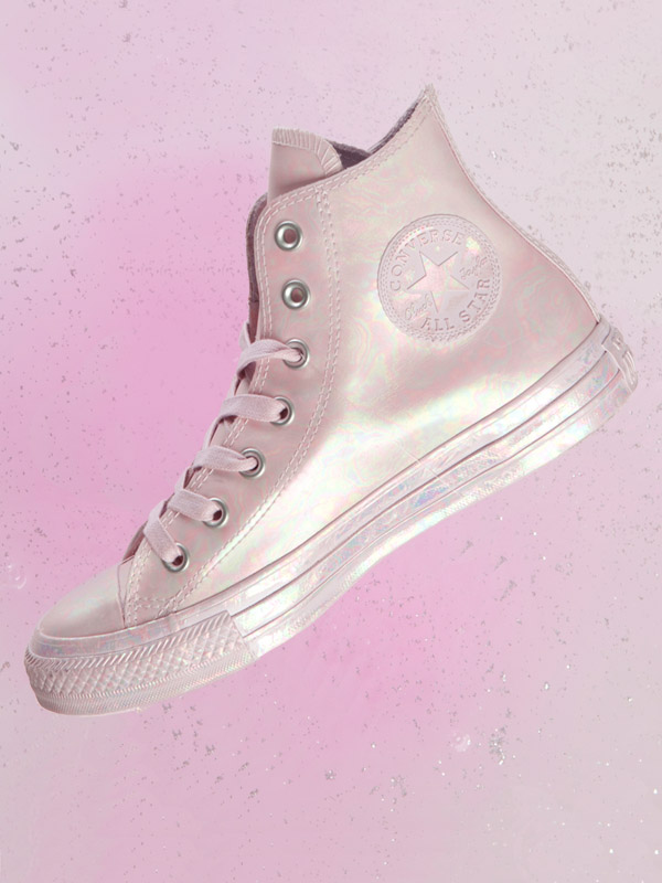 converse iridescent all star hi trainers
