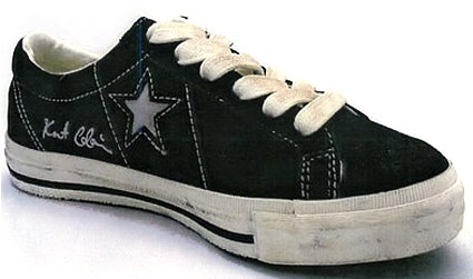 kusrt cobain converse one star in black suede