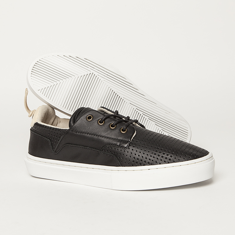 clear weather black leather the eighty trainers