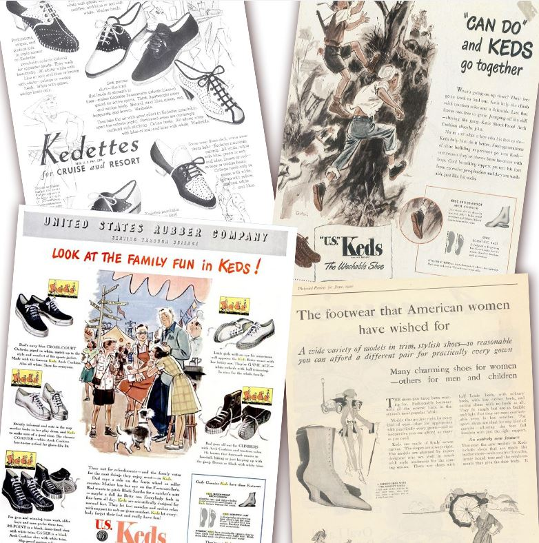 keds ad campaigns 1920-1950s