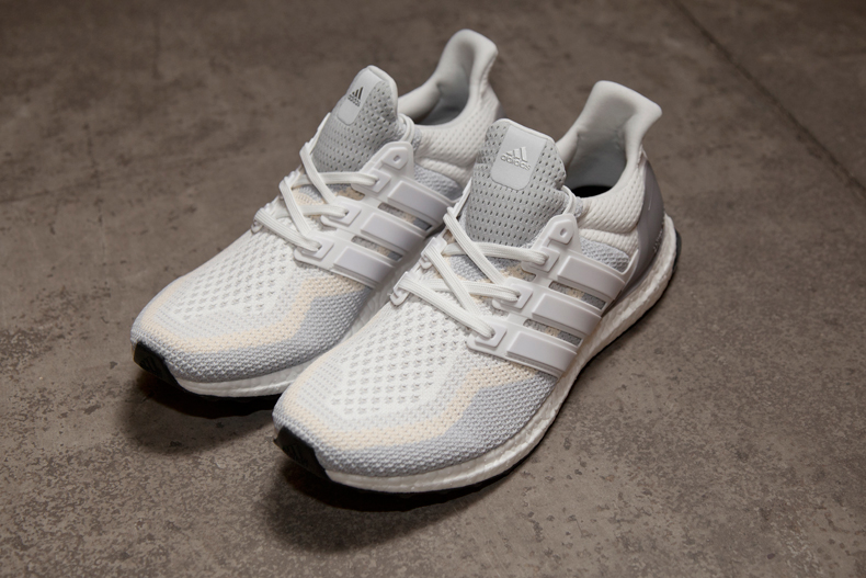 mens white adidas ultra boost trainers with primeknit upper at schuh