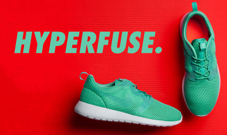 mens nike roshe one turquoise hyperfuse trainers