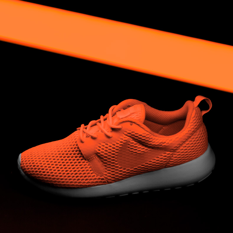 mens nike roshe one hyperfuse orange trainers