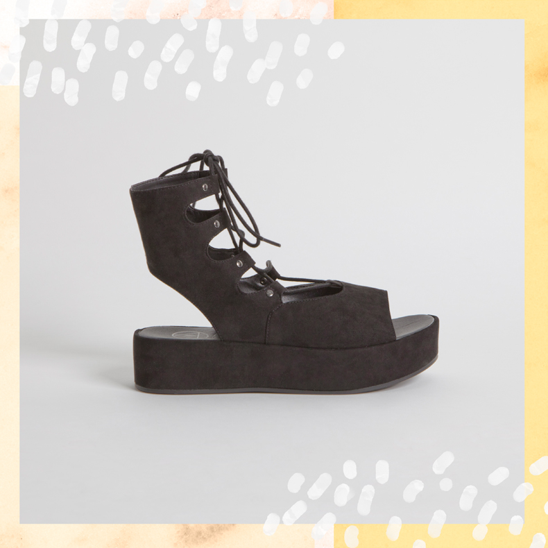Missguided Flatform Up Ghillie Lace Sandal