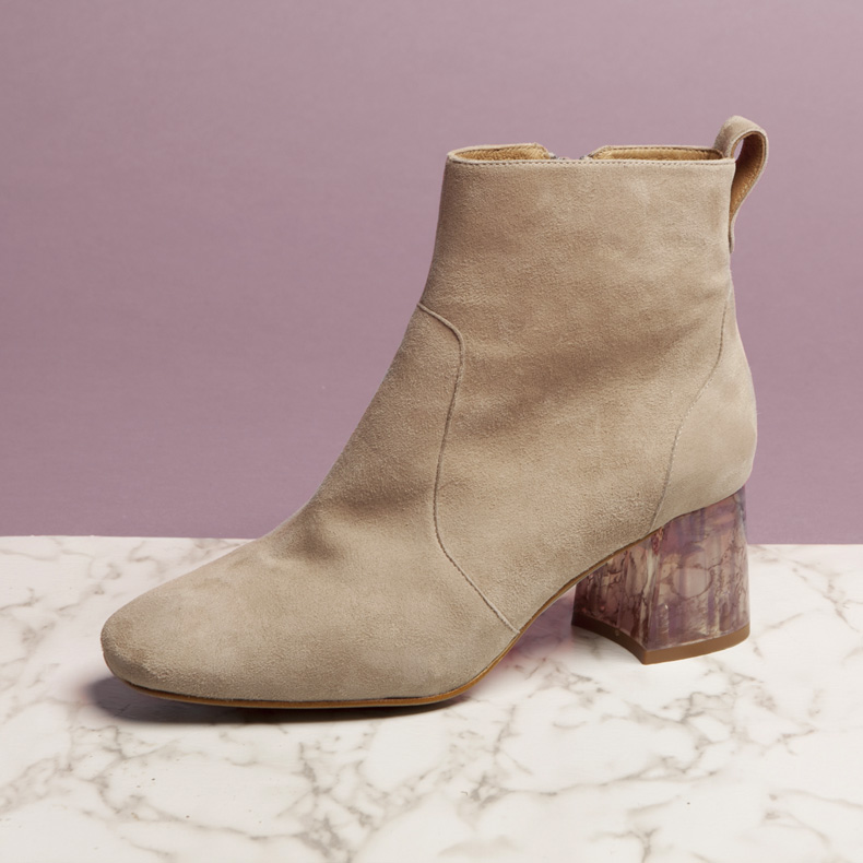 schuh Goodness statement heeled ankle boots