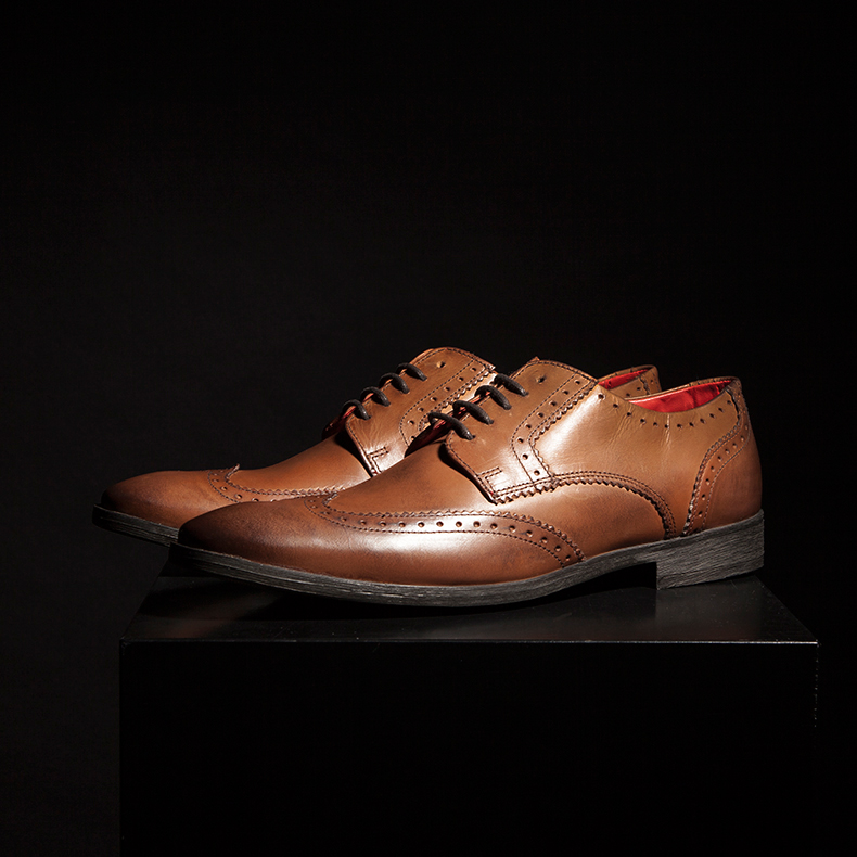 base london spice winged gibson tan shoes
