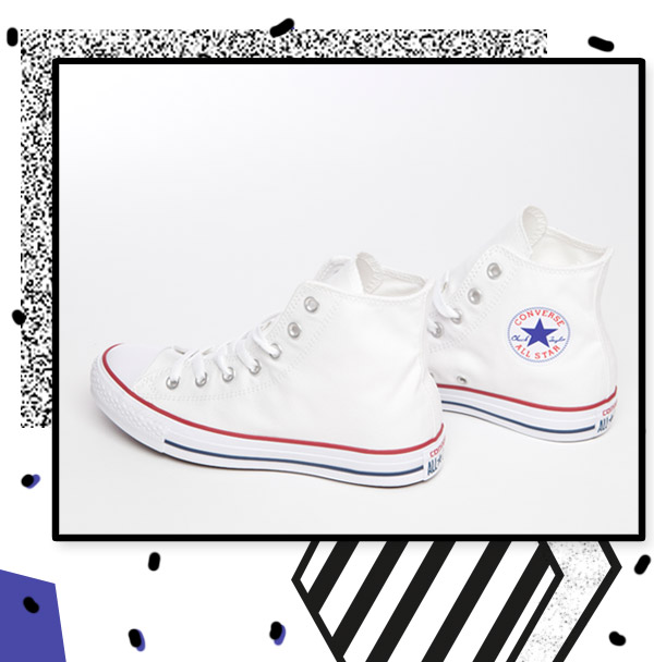 white converse all star hi trainers