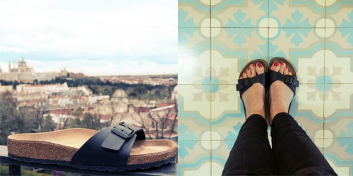 the Birkenstock Madrid sandal photographed in Madrid