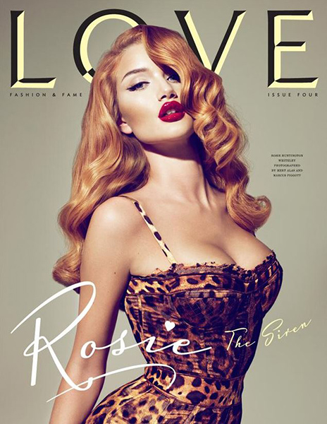 rosie huntington whiteley love magazine 2010