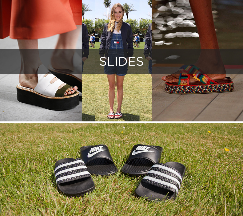 slides schuh festival style blog with adidas and nike