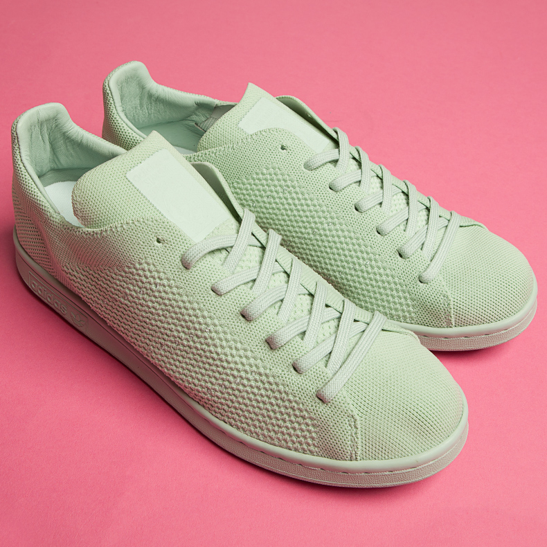 adidas stan smith primeknit green trainers