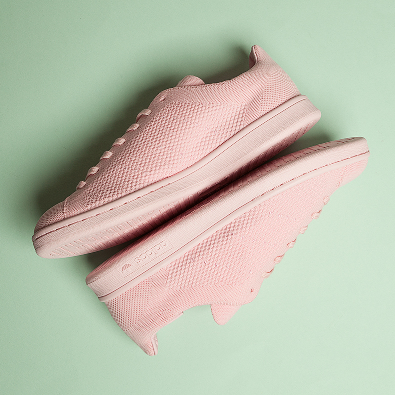 adidas stan smith primeknit pink trainers
