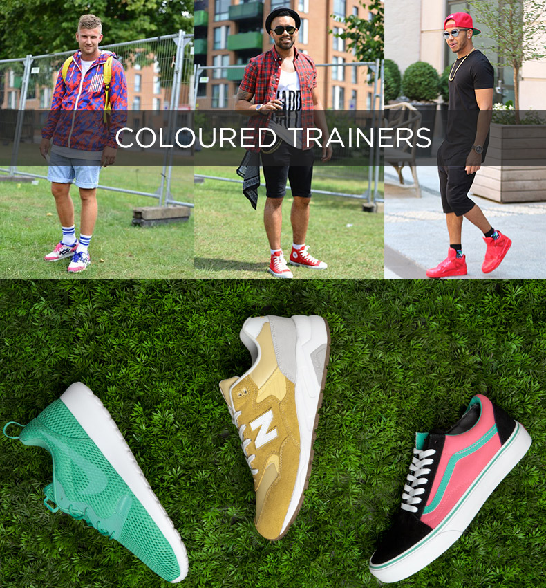 mens coloured trainers