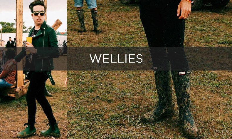 mens festival wellies
