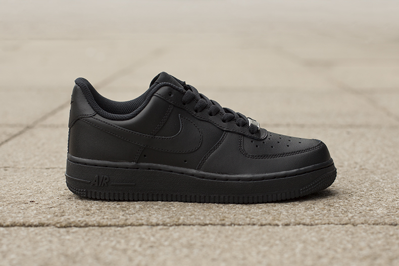 Nike Black Air Force 1 Trainers schuh