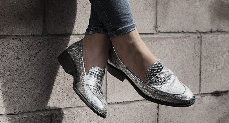 schuh silver teddy loafer