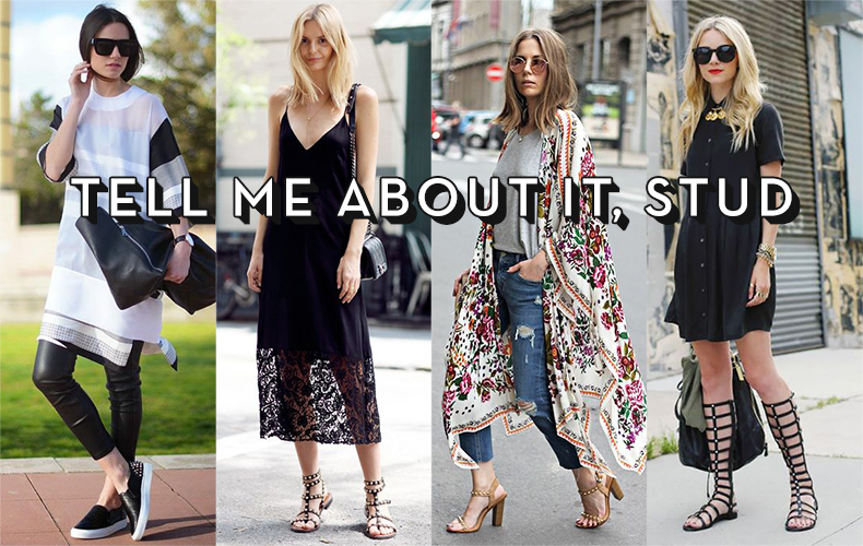 schuh blog studded shoes trend with street style shots
