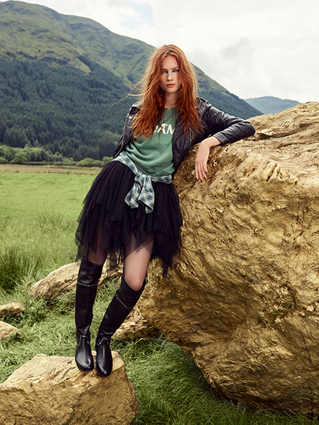 schuh Yorba over-the-knee boot in leather with embellishment - arriving 22nd September - schuh
