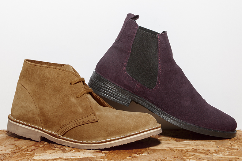schuh promt chelsea boot and nifty desert boot