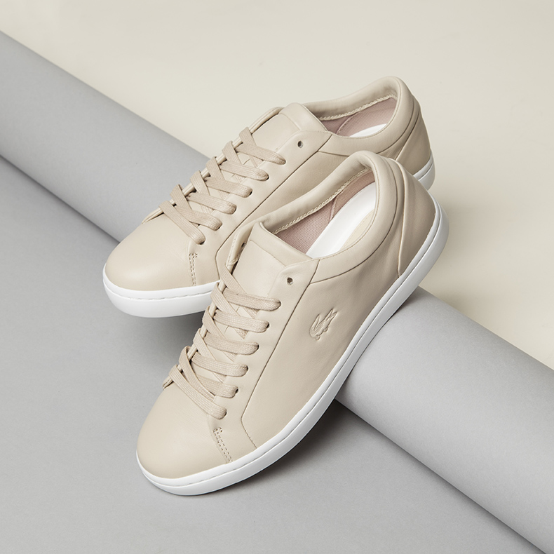 womens lacoste straightset pink leather trainers on schuh minimalist blog