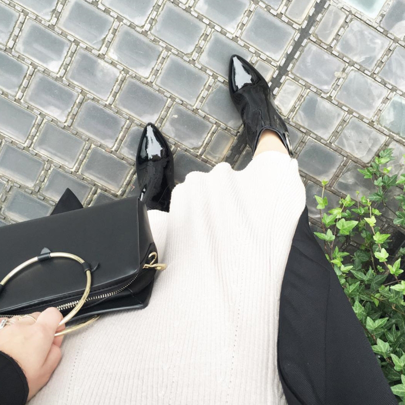 Black Glossy Patent Schuh High Heels - @maxfasheditor