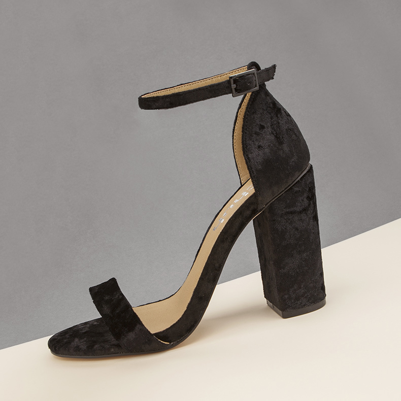 schuh encounter barely there sandals in blank faux suede for minimalist blog