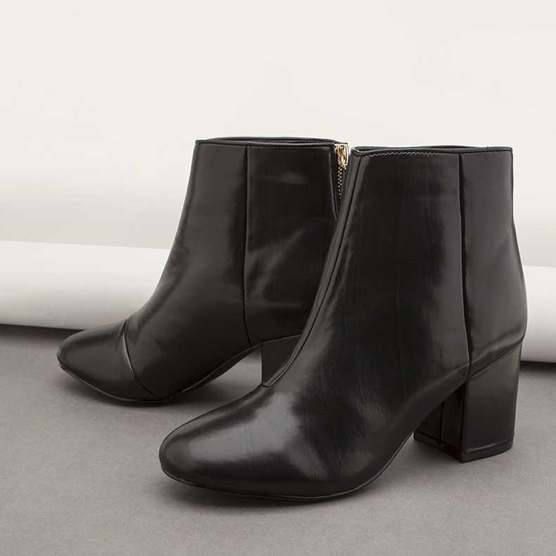 schuh black leather president ankle boots on schuh minimalist blog