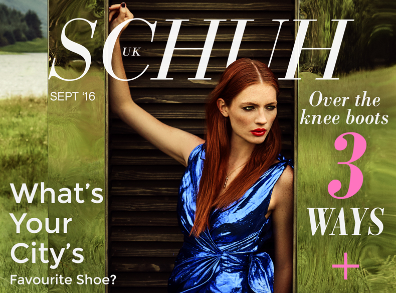september issue front cover of schuh online magazine on blog