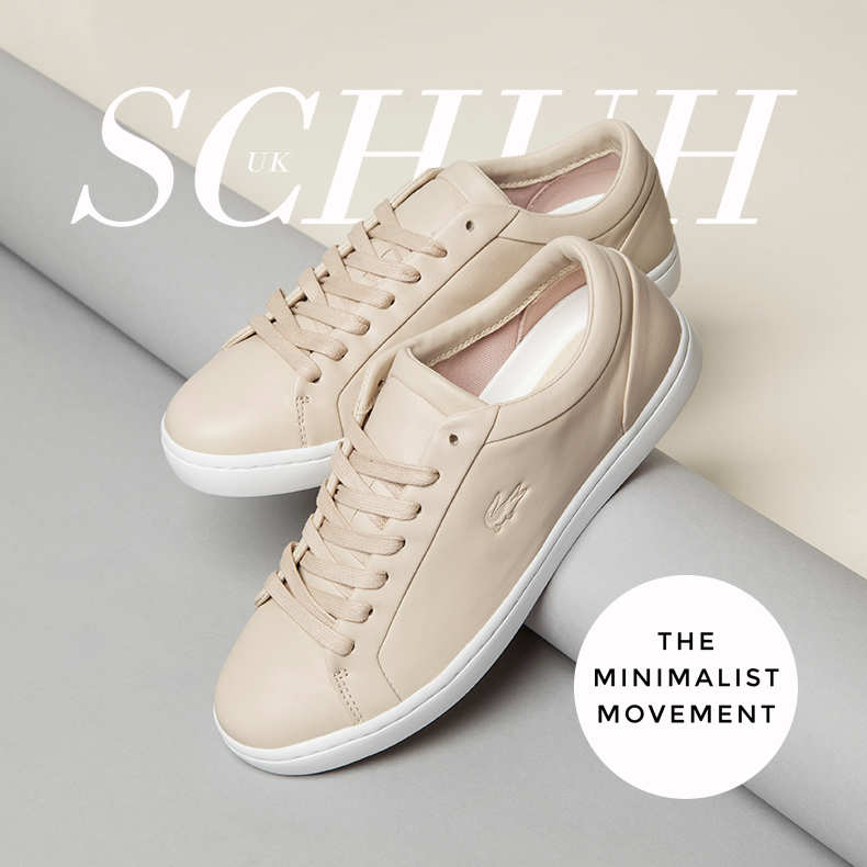 womens lacoste straightset trainers in nude leather for schuh minimalist trend blog