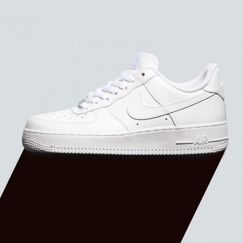 Classic Nike Air Force One low in white on white