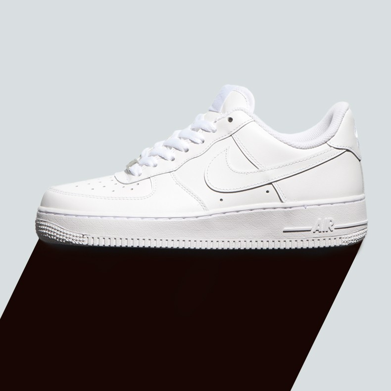 Mens White Nike Air Force 1 Mid Trainers schuh