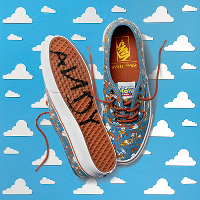 Toy Story Vans Authentic Woody print