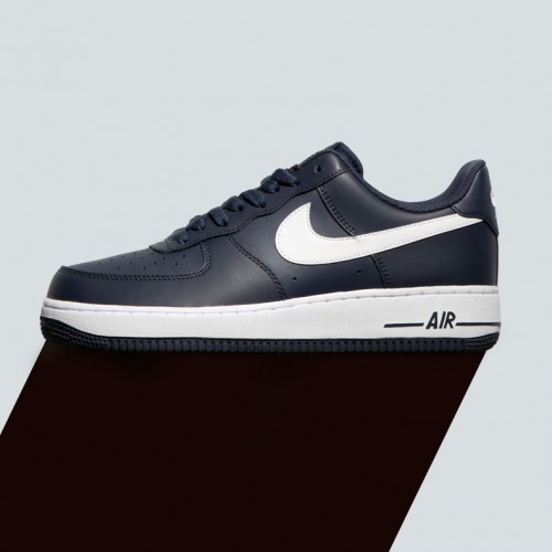 Mens navy leather low air force one