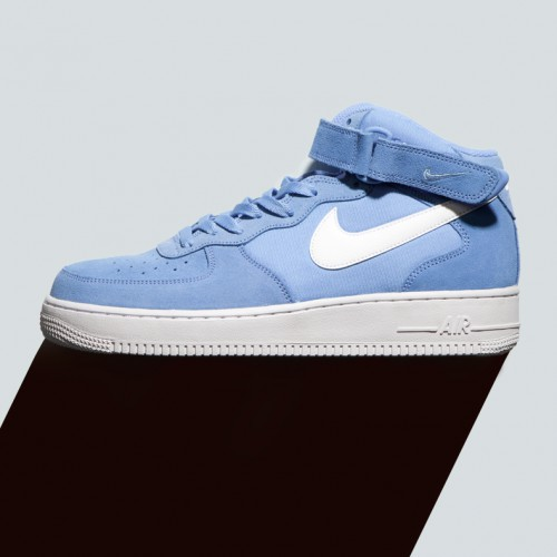 Mens nike air force one in mid blue style